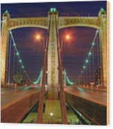 Hennepin Avenue Bridge Minneapolis Wood Print