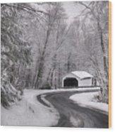 Henningers Farm Covered Bridge Wood Print