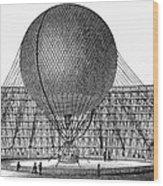 Henri Giffard: Balloon Wood Print