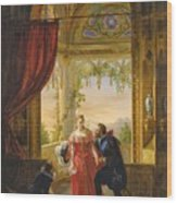 Henri Iv And His Mistress Wood Print