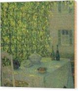 Henri Le Sidaner 1862 - 1939 The Village Table Gerberoy Wood Print
