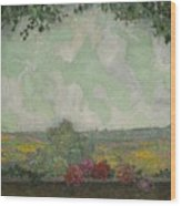 Henri Le Sidaner 1862 - 1939 View From The Terrace Wood Print