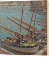 Henri Martin 1860 - 1943 Boats To Collioure Wood Print