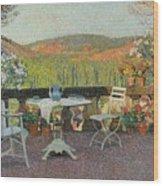 Henri Martin 1860 - 1943 Tea Time On The Terrace Marquayrol Wood Print