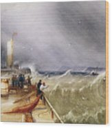 Henry Barlow Carter 1795-1867 Loss Of The Scarborough Lifeboat 24 May 1836 Wood Print