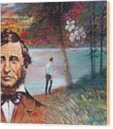Henry David Thoreau Wood Print by John Lautermilch