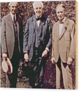 Henry Ford, Thomas Alva Edison, Harvey Wood Print