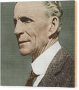 Henry Ford, Us Car Manufacturer Wood Print by Sheila Terry
