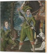 Henry Frederick 15941612 Prince Of Wales With Sir John Harington 15921614 In The Hunting Field Wood Print