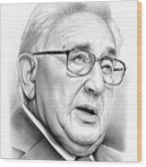 Henry Kissinger Wood Print