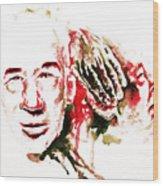 Henry Miller Portrait  Wood Print by Alexandra-Emily Kokova