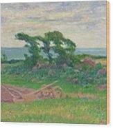 Henry Moret 1856 - 1913 The Plough Wood Print