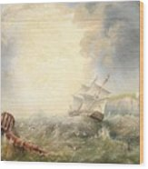 Henry Redmore Running Up The Coast In Heavy Seas, 1856 Wood Print