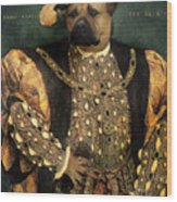 Henry Viii As A Mastiff Wood Print