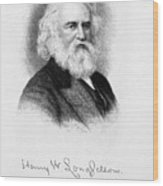 Henry Wadsworth Longfellow Wood Print by Granger