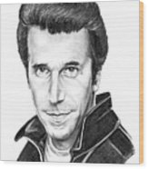 Henry Winkler The Fonz Wood Print