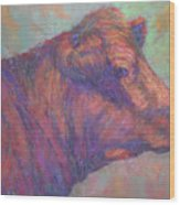 Henry's Red Angus Wood Print