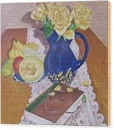 Her Book Wood Print