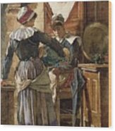 Her First Born Wood Print by Walter Langley