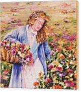 Her Irish Garden Wood Print