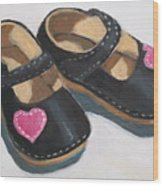 Her Little Shoes Wood Print