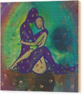 Her Loves Embrace Divine Love Series No. 1006 Wood Print