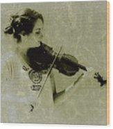 Her Music Wood Print