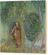 Her Secret Garden Wood Print