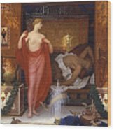 Hera In The House Of Hephaistos Wood Print