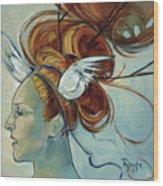 Hera Wood Print by Jacque Hudson