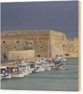 Heraklion Castle Crete Greece Wood Print