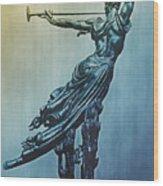Heraldic Memorial Statue At Gettysburg Wood Print