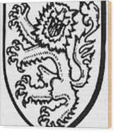 Heraldry: Lion Wood Print