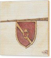Heraldry Trumpet Wood Print