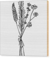 Herb Bouquet Wood Print