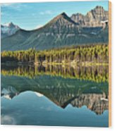 Herbert Lake - Quiet Morning Wood Print by Jeff R Clow