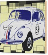 Herbie The Love Bug Wood Print