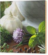 Herbs Wood Print