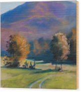 Herbstfarben Bei Aschau Wood Print