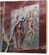 Herculaneum Fresco Wood Print