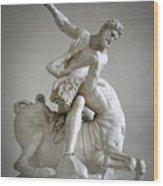 Hercules And Centaur Sculpture Wood Print