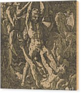 Hercules Killing Cacus Wood Print