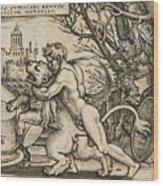 Hercules Killing The Nemean Lion Wood Print