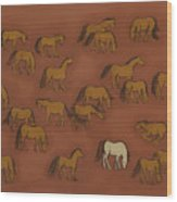 Herd 1 Wood Print by Sophy White