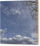 Herd of clouds on the sky over Fagaras Mountains Romania Wood Print