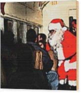 Here Come Santa Wood Print