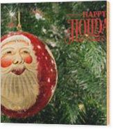 Here Comes Santa Claus Wood Print