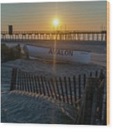 Here Comes The Sun - Avalon New Jersey Wood Print