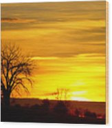 Here Comes The Sunrise Wood Print