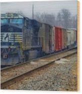 Here Comes The Train Wood Print